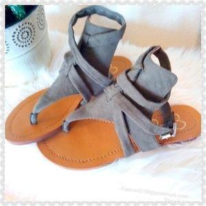 Jessica Simpson Olive Green Wrap Sandals